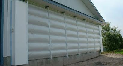Вентиляционные надувные шторы