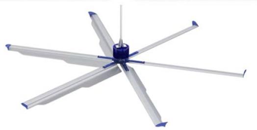 Горизонтальный вентилятор для коровника