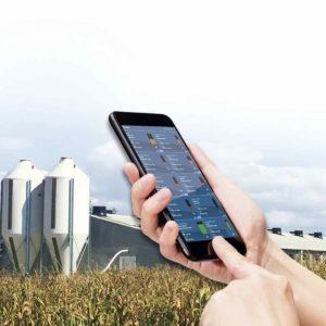 Беспроводная система мониторинга уровня сухих кормов в бункерах